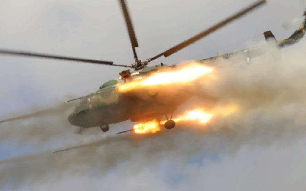 Под Оренбургом «Крокодилы» устроили «вертолётную карусель». Опубликовано фото