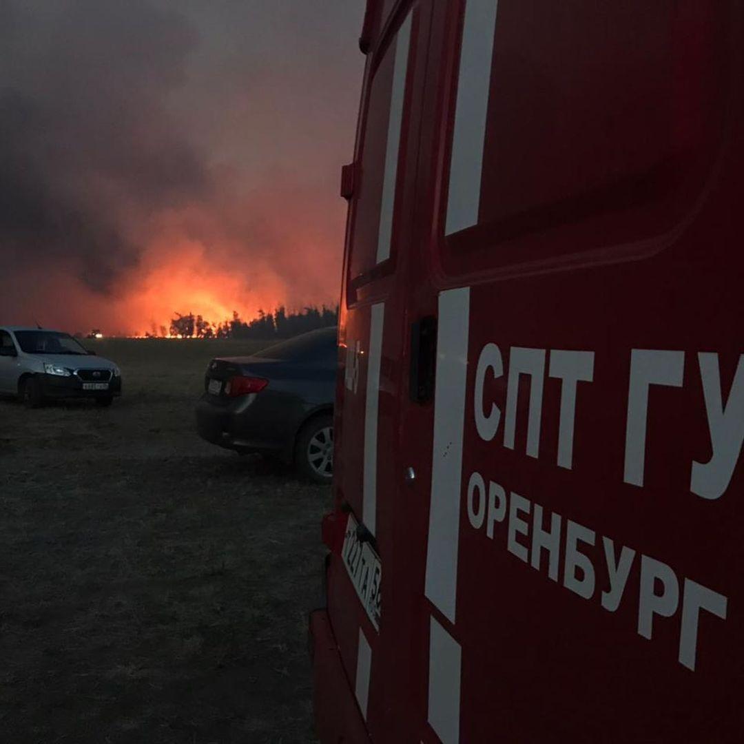 Пожар под Соль-Илецком локализован