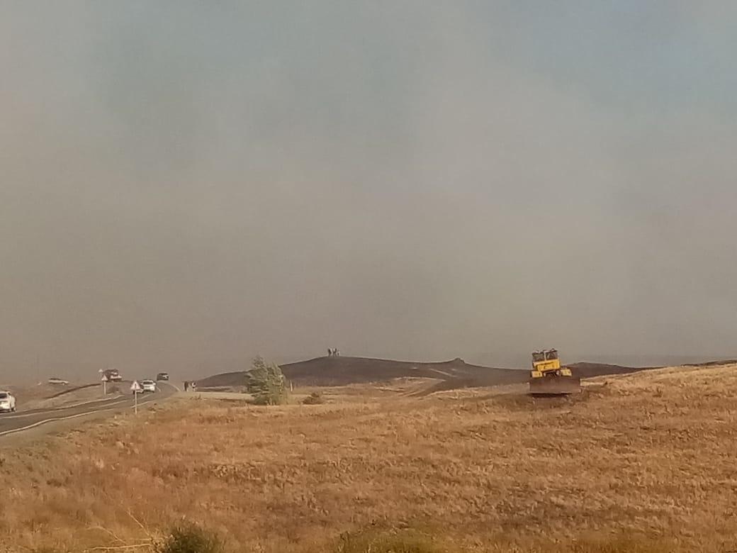В Медногорске потушили крупный природный пожар